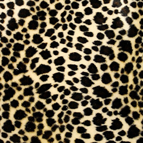 - Baby Cheetah Brown Velboa Faux Fur Animal Short Pile Fabric - Sold By The Yard (FB)