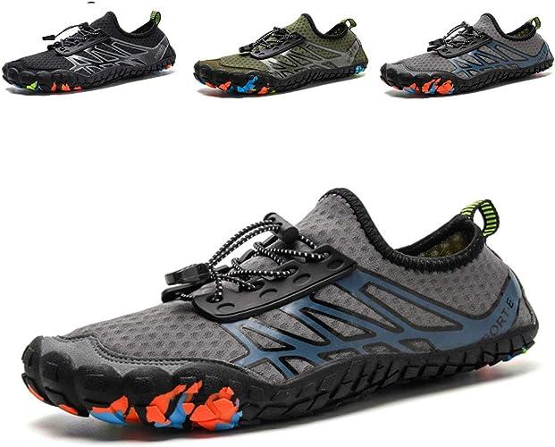 hiitave Men Barefoot Water Shoes Beach Aqua Socks Quick Dry for Outdoor Sport Hi