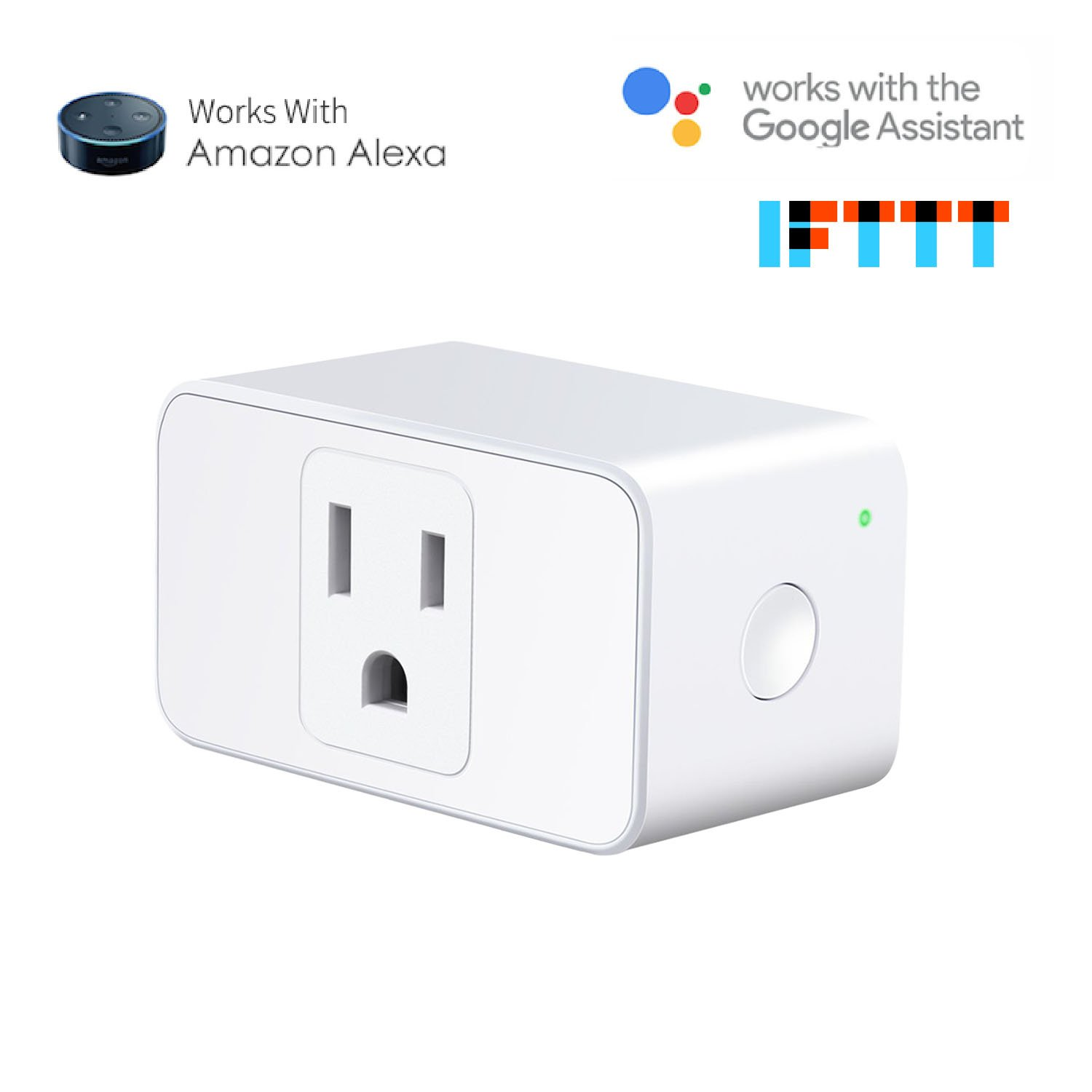 Meross Wifi Smart Plug Compatible with Alexa and Google Home, Wi-Fi Smart Socket Outlet Control Your Lights, Appliances From Your Phone (1 piece) by meross