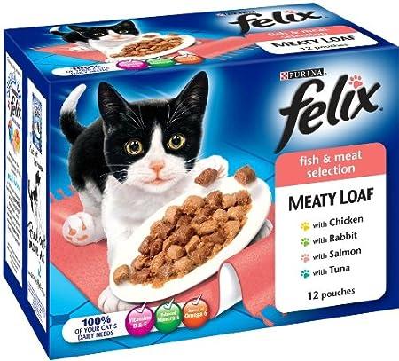 Felix Fish Meat LOAF. 24 unidades. Comedero para gatos. SELECCIONES DE PESCA, MEATOS Y MÁS NUEVO: Amazon.es: Productos para mascotas