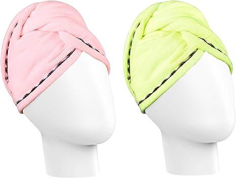 Luxspire Gorro de ducha de microfibra para el cabello, gorra de ...