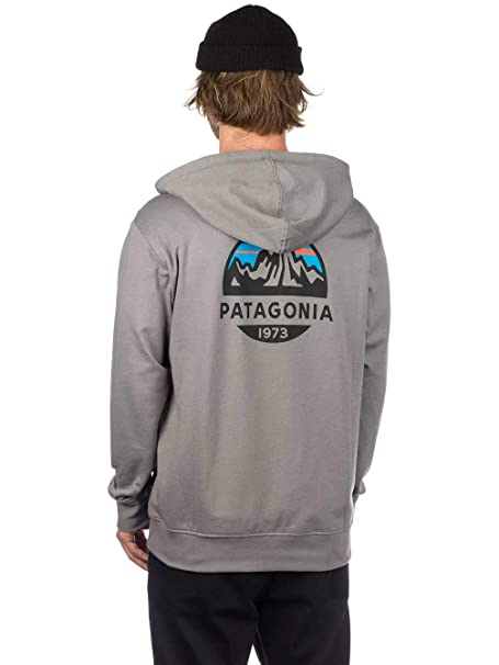 d59afff4 Patagonia Men's Fitz Roy Scope Lightweight Full-Zip Hoody - Slim Fit - Feather  Grey (X-Large): Amazon.co.uk: Clothing