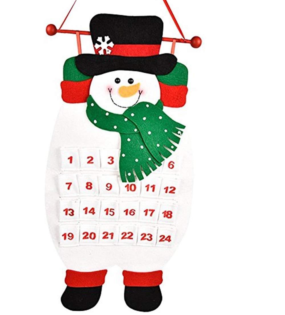 Yingealy Beautiful and Practical Cartoon Christmas Snowman Calendar Countdown Calendar Wall Calendar