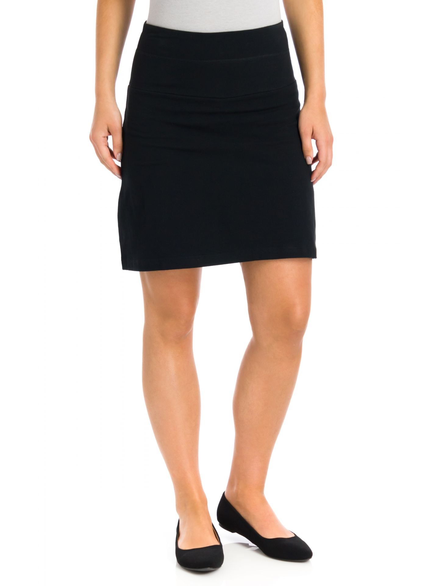Teez-Her Women's Tummy Control Low Waist 17 Skort, Black, Small