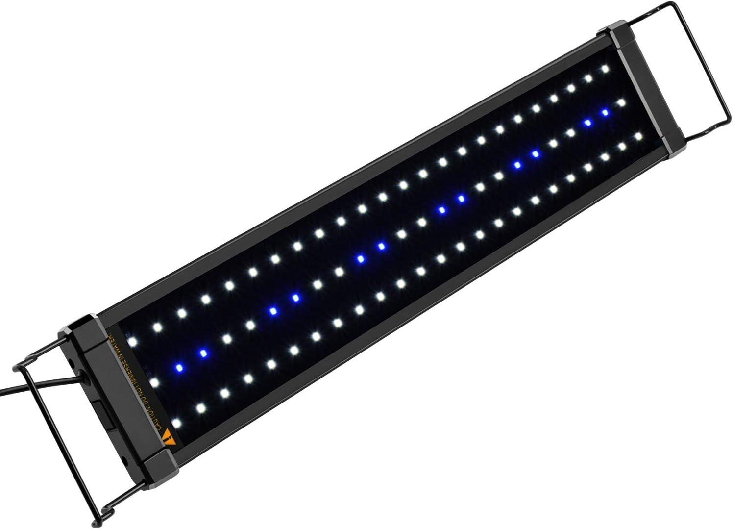 NICREW ClassicLED Luz LED Acuario, Pantalla LED Acuario, Iluminación LED para Acuarios Plantados Lámpara LED para Peceras 53-83 cm, 11W, 7000K