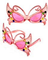 Fun and Funky 2033DDPKPK Sexy Butterfly Fashion Sunglasses Pink Frame Pink Lenses