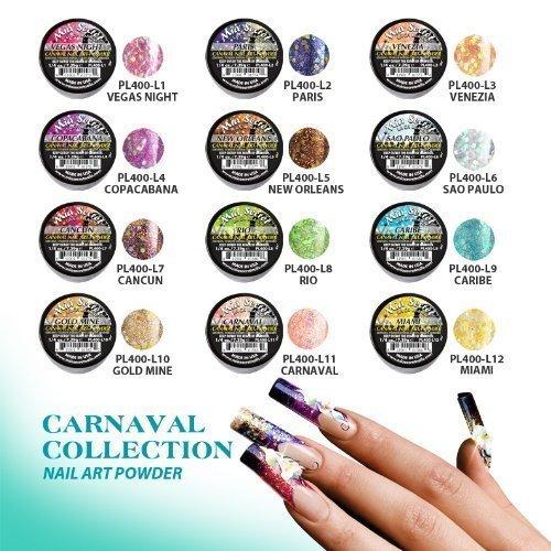 Mia Secret Acrylic Nail Art Powder Carnaval Collection 12 Different Colors