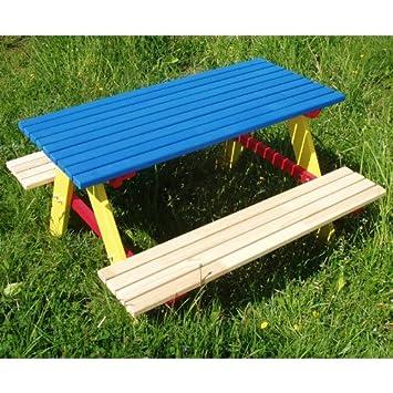 Amazon.de: Kindersitzgarnitur 4 Sitzer Kinder Sitzgruppe Holz Garten ...