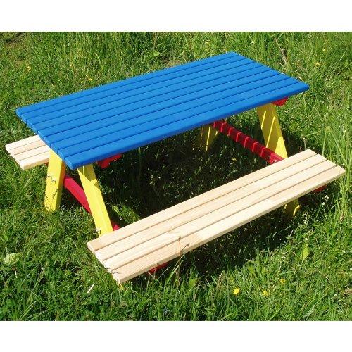 Kindersitzgarnitur 4 Sitzer Kinder Sitzgruppe Holz Garten Tisch Bank
