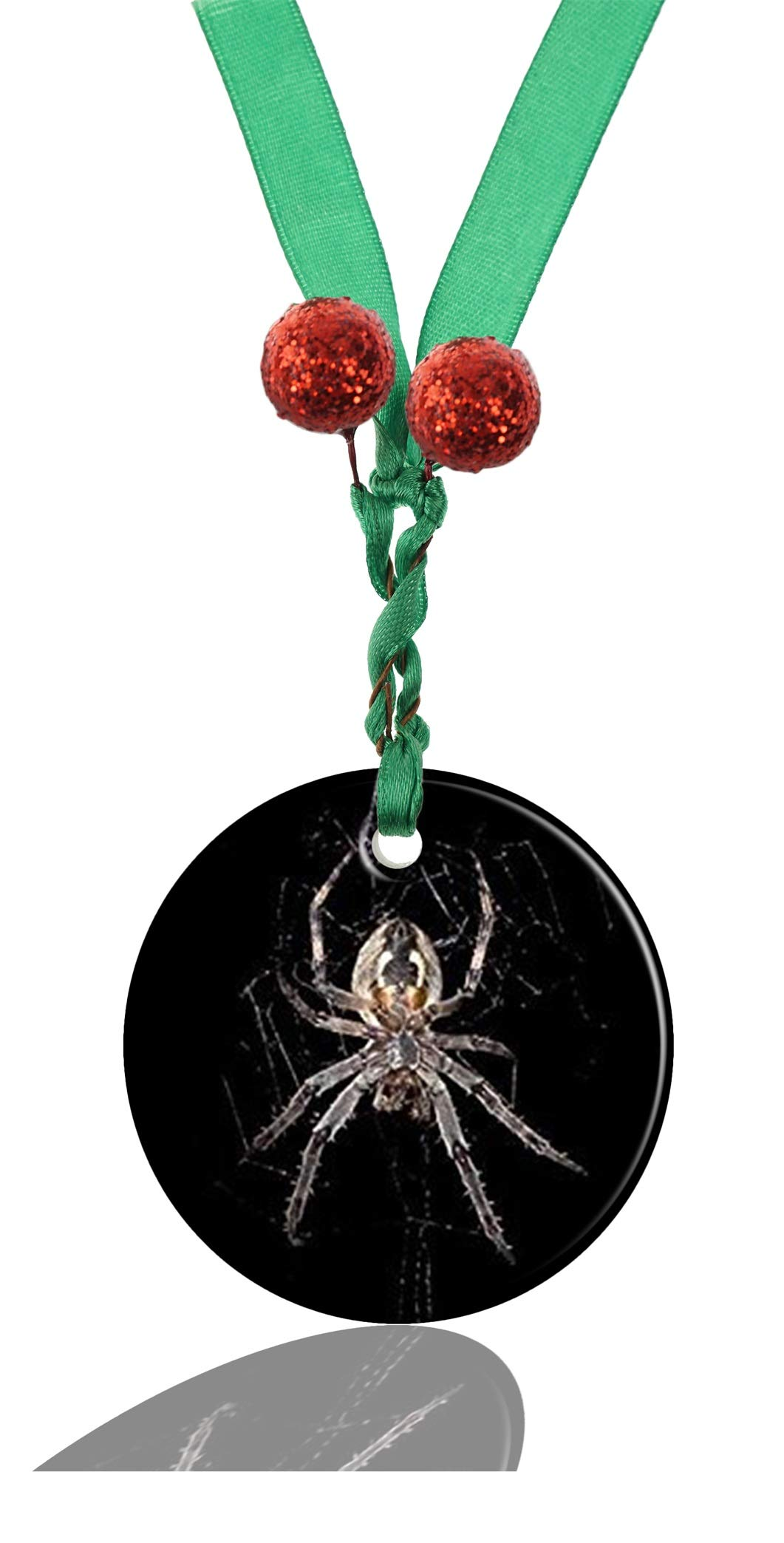 GDEE Custom Animals Spider Personalized Round Porcelain Ornaments Christmas Ornaments Home Decoration