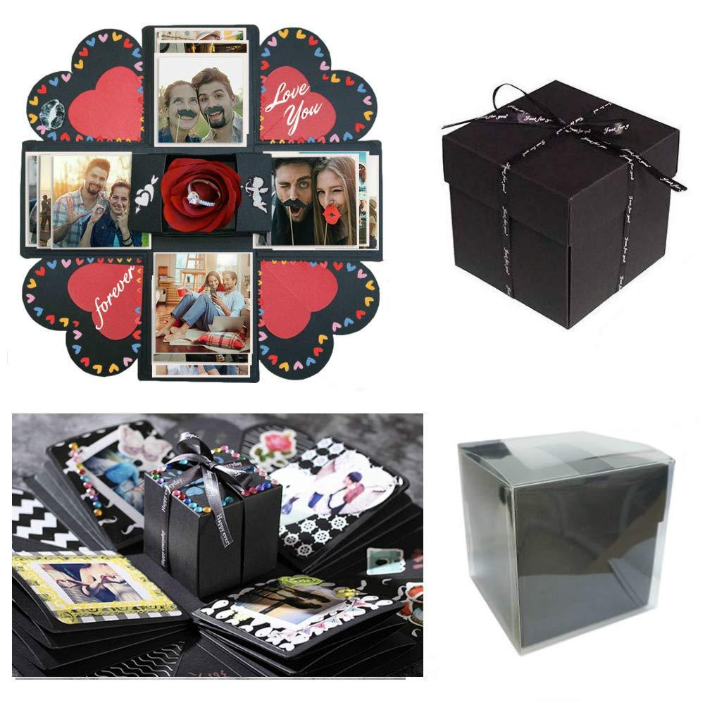 Sparta's Store esplosione box,Creative sorpresa esplosione scatola Set lussuoso Portati i migliori ricordi! Regali di festa perfetti, regali di anniversario, album commemorativi, regali di compleanno, regali di Natale, regali di festa. Lascia più ricordi!