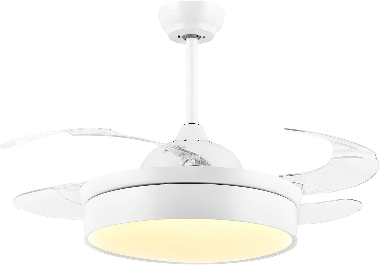 NOXARTE - Ventilador de techo plegable con luces y ventilador de ...