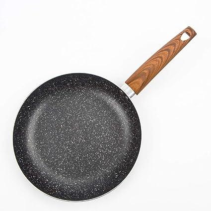 RNG-Electric grill Sartén Plana Piedra Médica 24 Cm Fried Steak Antiadherente Plancha para Hornear