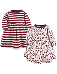 Baby Girls' Organic Cotton Dress, 2 Pack