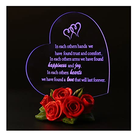 061cf82940e8 Giftgarden Heart-shaped LED Valentines Friendship Gifts for Women Men   Amazon.co.uk  Kitchen   Home