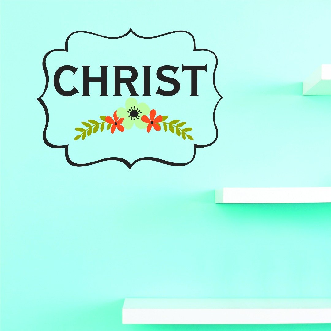 Design with Vinyl JER 1430 1 Vinyl Wall Decal Christ 10X20 As Seen 10' x 20'