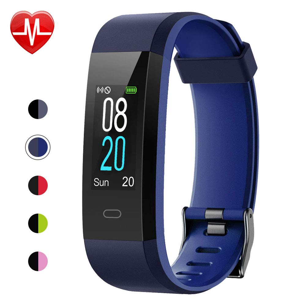 Willful Fitness Tracker with Heart Rate Monitor, Activity Tracker Pedometer with Step Counter Sleep Monitor 14 Sports Tracking,Color Screen IP68 Waterproof,Fitness Watch for Women Men Kids (Blue)