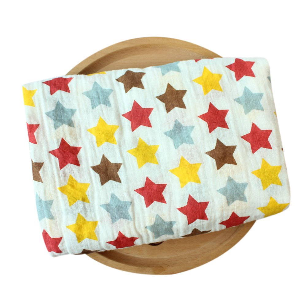 Ocama Newborn Blankets for Bath Gauze Infant Wrap Sleepsack,115115cm Double Layer