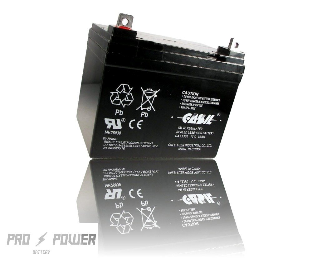 Casil CA12350 12v 35ah for Deep Cycle Solar Battery Also Replaces 33Ah 34Ah 36Ah