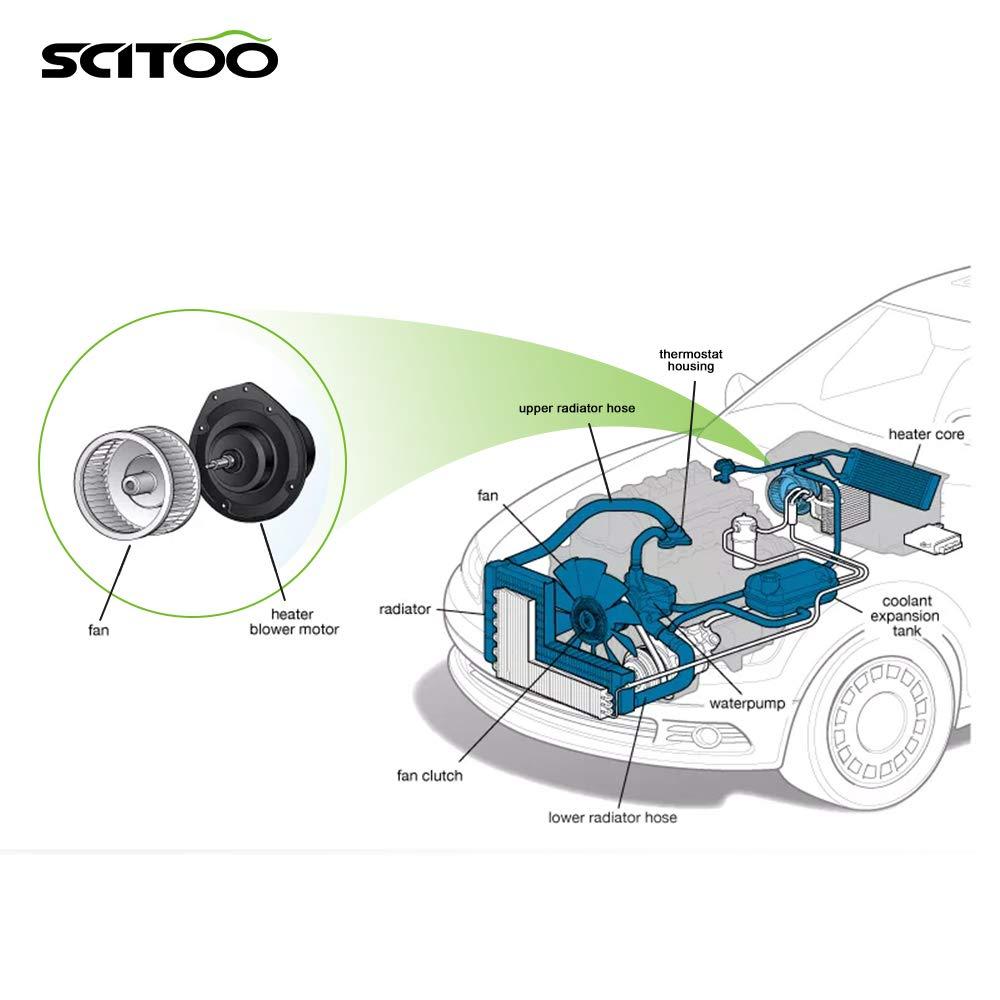SCITOO ABS Plastic Heater Blower Motor w//Fan HVAC Resistors Blowers Motors fit 2010 Mercedes-Benz E550//2010 Mercedes-Benz E63 AMG//2010 Mercedes-Benz GLK300//2010 Mercedes-Benz GLK350 Front