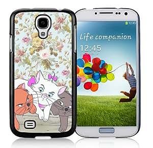 Samsung Galaxy S4 Cover Case,Disney Aristocats Black Cool Customized Samsung Galaxy S4 I9500 Case