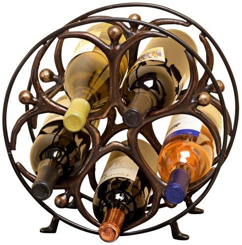 UPC 746851514579, Metal Circle Man Wine Bottle Holder Table Top Rack holds 5