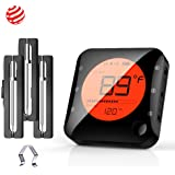 BFOUR Wireless Bluetooth Meat Thermometer for Grilling, Premium Digital Instant Read Meat Thermometer with 3 Probes Food…