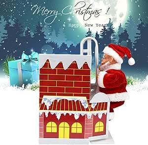 Regalos de Navidad, Papá Noel, campanilla de escalada, pared ...