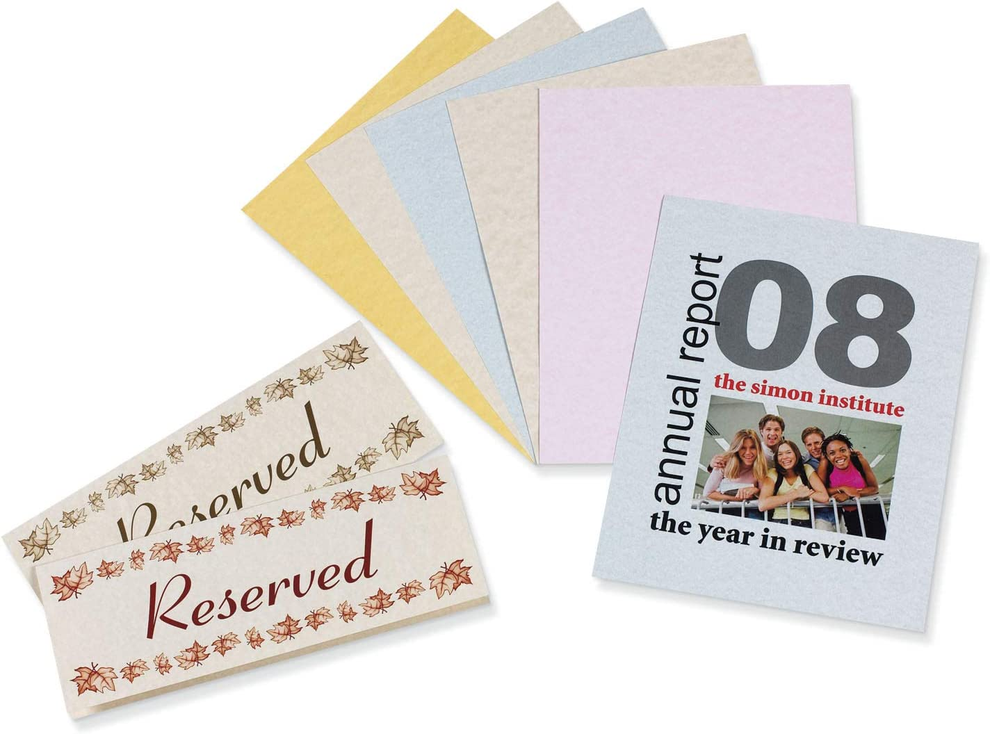 "Pacon Card Stock, Parchment Assortment, 5 Colors, 8-1/2"" x 11"", 100 Sheets"