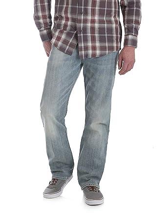 a276a329 Wrangler Men's 4-Way Comfort Flex Straight Fit Jeans (Light Bleach Wash) (