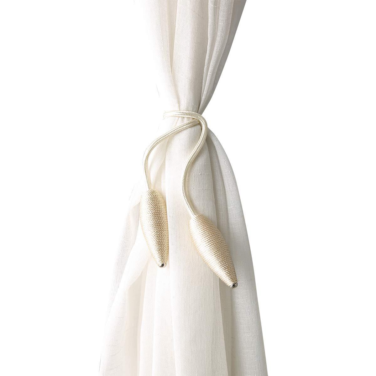 CHIMEI Curtain Tieback Fabric Window Holdback Holder Decorative Hook Draperies No Need Drilling