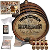 Personalized Whiskey Making Kit (102) - Create Your Own Tennessee Bourbon Whiskey - The Outlaw Kit from Skeeter's Reserve Outlaw Gear - MADE BY American Oak Barrel - (Oak, Black Hoops, 3 Liter)