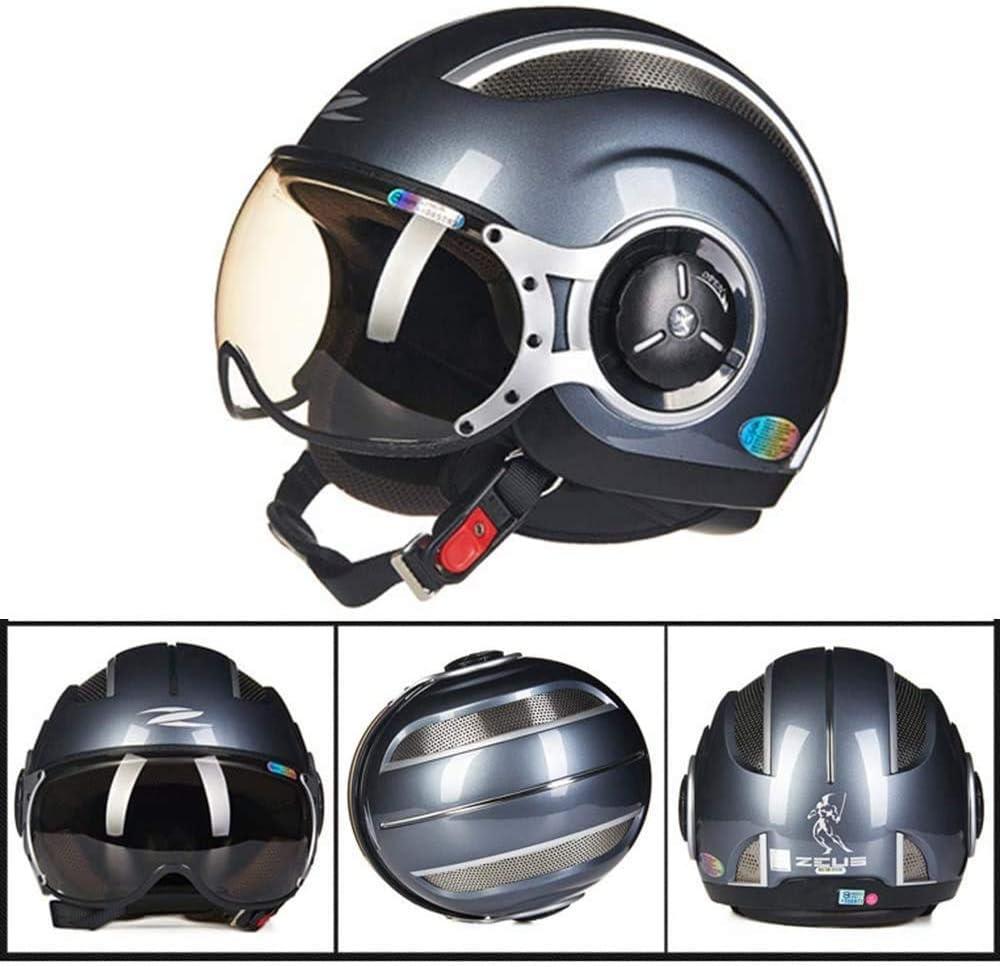 Carreras Off-Road casco de la motocicleta de la bicicleta del montar a caballo Harley vendimia medio Casco de cuatro estaciones de Protección Solar Scooter casco de esquí de los hombres y mujeres de l