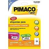 Etiqueta Adesiva Congelador/Freezer A5 34x65, BIC, Pimaco, 901080, Branca, 120 Etiquetas