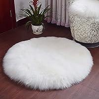 HLZDH Peau de mouton synthétique,Cozy Sensation comme véritable laine Tapis en fourrure synthétique, Man-made luxe Laine Tapis de Canapé Coussin