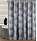 SHU UFANRO Waterproof Shower Curtain with Trees Quick-dry Polyester Luxury Thick Bathroom Shower Curtain with 12 Hooks