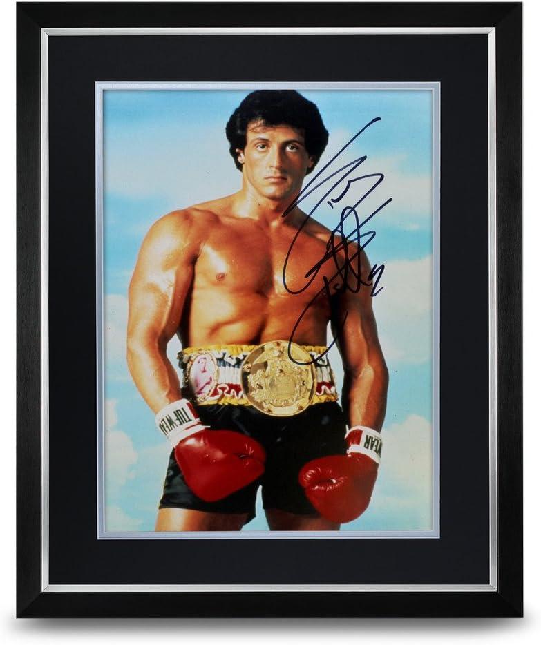 Foto enmarcada y autografiada de Rocky IV Sylvester Stallone