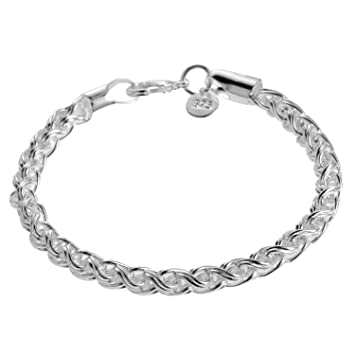 Delicate Beautiful Silver Bangle Bracelet with Snowflake Carved,925 silver jewellery.Arrives in a pretty gift bag.