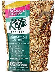 TGB Cinnamon Pecan Keto Granola   2g Net Carb Snack   Low Carb Nut Cereal   Healthy Artisanal Food, 11 Ounces