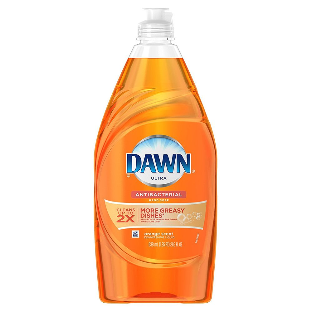 Dawn Ultra Concentrated Antibacterial Hand Soap, Orange Scent Dishwashing Liquid, 571mL