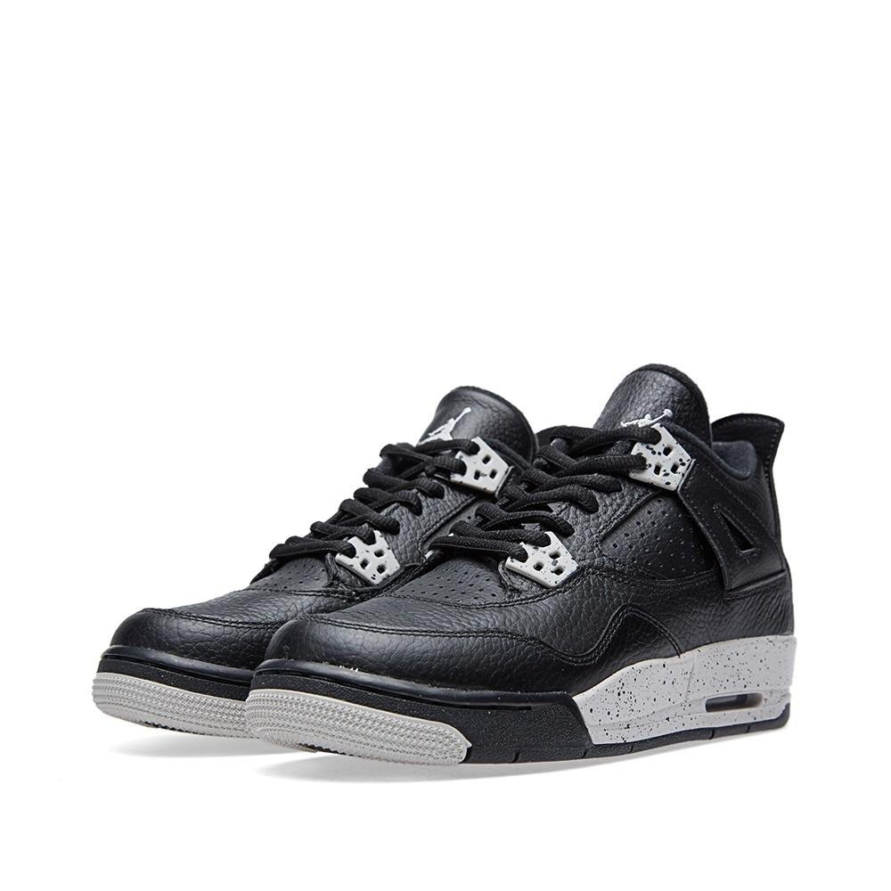 Black   Tech Grey - Black Nike Jordan Kids Air Jordan 4 Retro Bg Basketball shoes