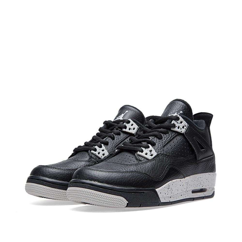 Nike Air Jordan 4 Retro Black/tech Grey-black Oreo 408452-003, Size : 4Y US (4Y) by JORDAN