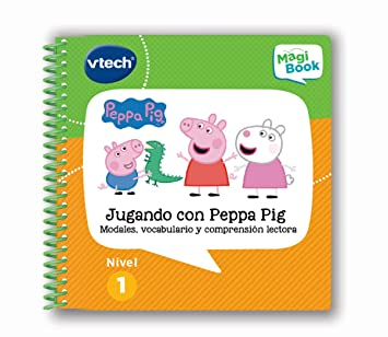 VTech - Libro Jugando con Peppa Pig, comprensión lectora para MagiBook (80-480422