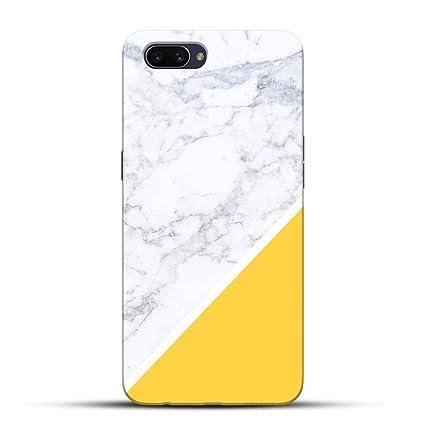 Pikkme Funky White Yellow Marble Background Designer Amazon