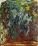 'Weeping Willow, Giverny, 1920-1922 By Claude Monet' Oil Painting, 30x36 Inch / 76x92 Cm ,printed On Perfect Effect Canvas ,this Amazing Art Decorative Prints On Canvas Is Perfectly Suitalbe For Garage Artwork And Home Gallery Art And Gifts
