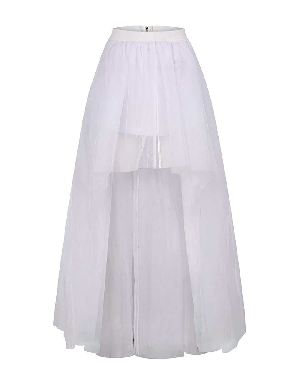 9fc9ad1acb Leslie Brown · HaoDuoYi Womens Tulle TuTu High Low High Waist Princess  Wedding Skirt