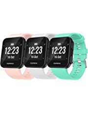 QGHXO Band for Garmin Forerunner 35, Soft Silicone Watch Band Strap for Garmin Forerunner 35 Smart Watch, Fit 5.11 inches-9.05 inches (130mm-230mm) Wrist