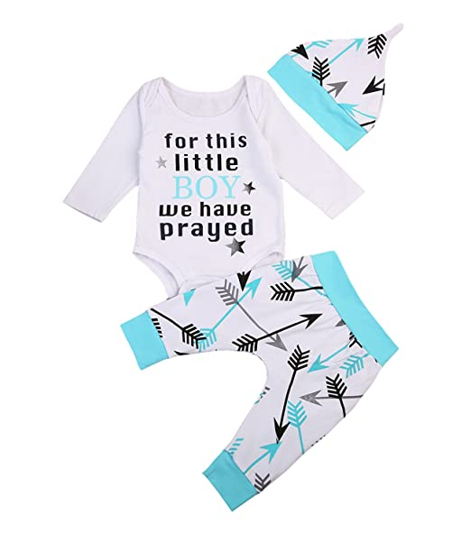 Amazon.com: Conjunto de 3 piezas para bebés y niñas, manga ...