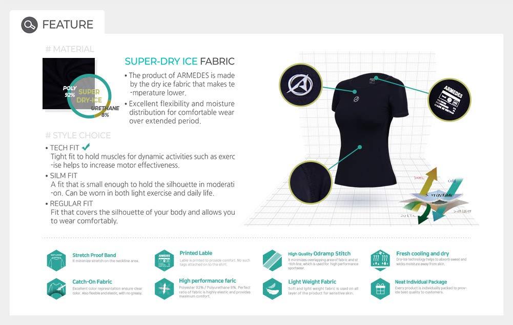 ARMEDES Racerback Tank Compression Cool Crop Fitness Yoga Slim Fit Top /& T-Shirts AR-222//231