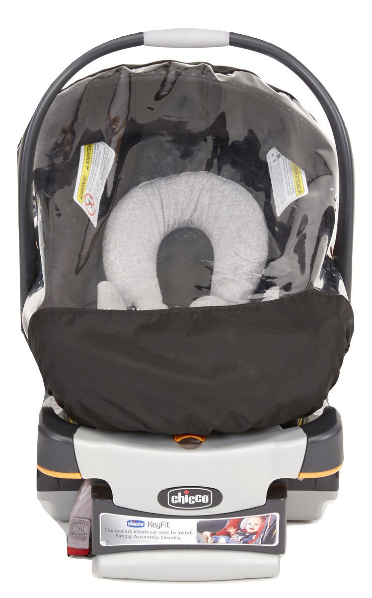 Sashas Rain and Wind Cover for Chicco KeyFit 30 Infant Car Seat by Sasha Kiddie Products (Image #2)